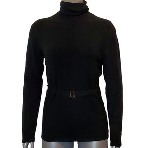 BCBGMAXAZRIA Belted Turtleneck